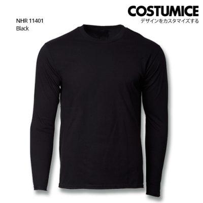 Costumice Design Basic Cotton long sleeve t-shirt-Black