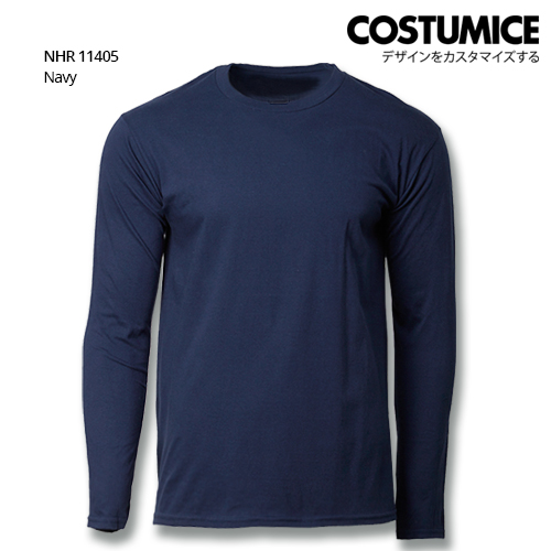 Costumice Design Basic Cotton long sleeve t-shirt-Navy