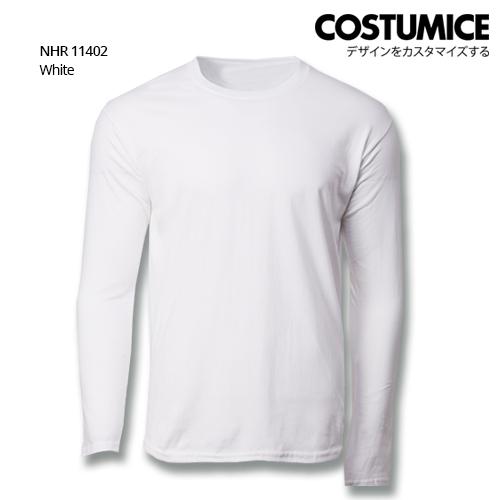 Costumice Design Basic Cotton long sleeve t-shirt-White