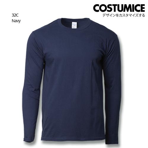 Costumice Design Premium Cotton long sleeve t-shirt-Navy