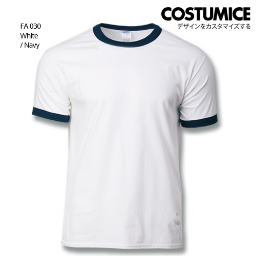 Costumice Design Ringer T-shirt FA 030 White-Navy