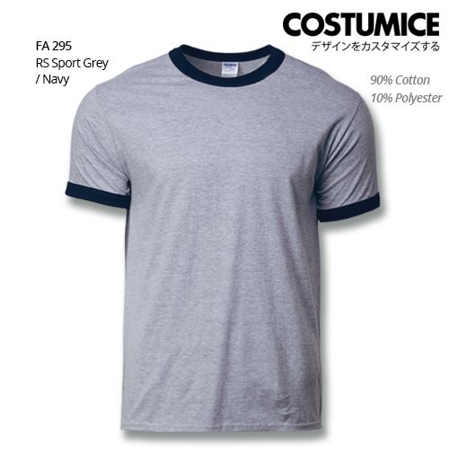 Costumice Design Ringer T-shirt FA 295 RS Sport Grey-Navy