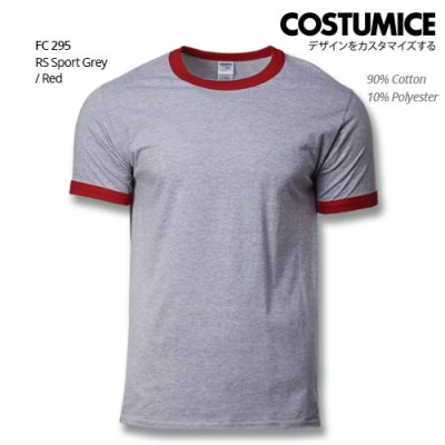 Costumice Design Ringer T-shirt FC 295 RS Sport Grey-Red