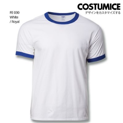 Costumice Design Ringer T-shirt FE 030 White-Royal