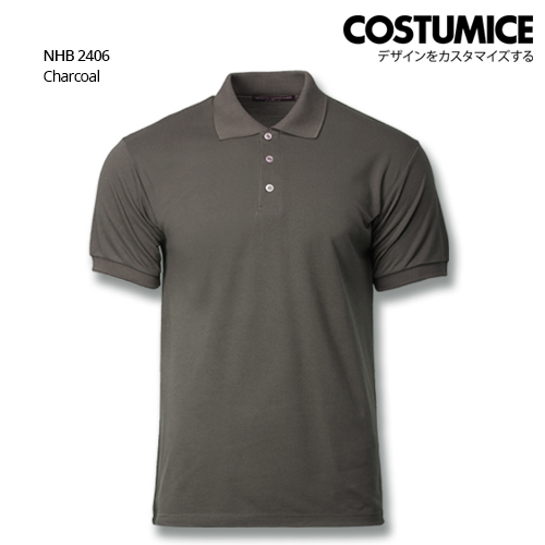 Costumice design soft touch polo NHB 2406 Charcoal