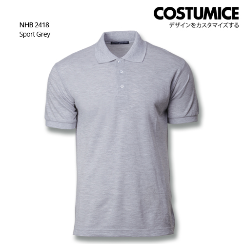 Costumice design soft touch polo NHB 2418 Sport Grey