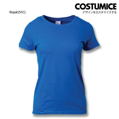 costumice design ladies premium cotton t-shirt-Royal
