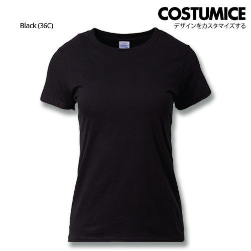 costumice design ladies premium cotton t-shirt-black