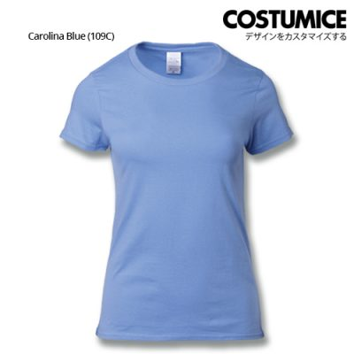 costumice design ladies premium cotton t-shirt-carolina-blue