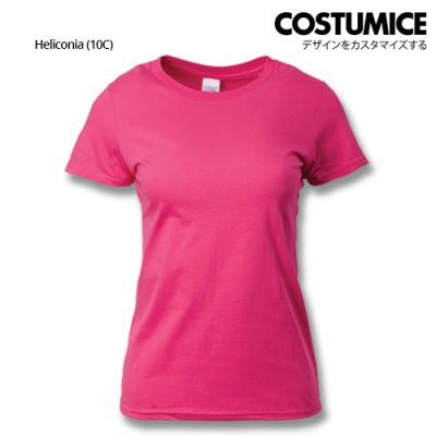 costumice design ladies premium cotton t-shirt-heliconia