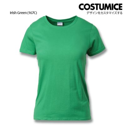 costumice design ladies premium cotton t-shirt-irish-green