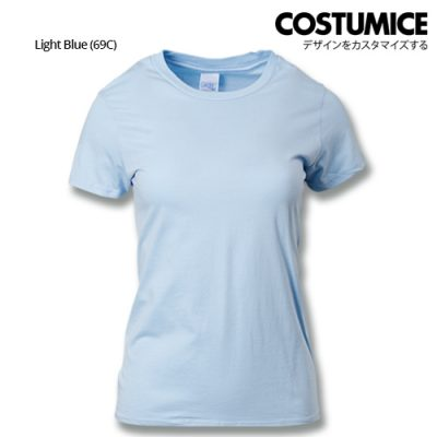 costumice design ladies premium cotton t-shirt-light-blue