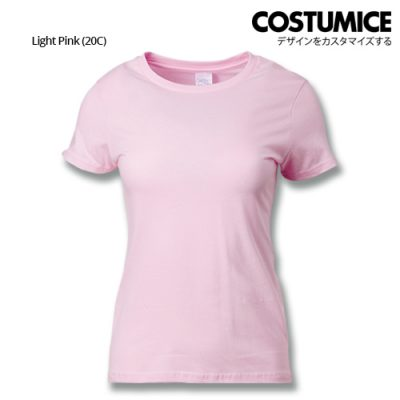 costumice design ladies premium cotton t-shirt-light-pink