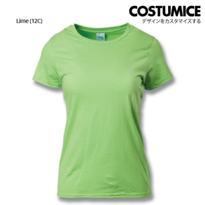 costumice design ladies premium cotton t-shirt-lime
