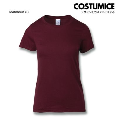 costumice design ladies premium cotton t-shirt-maroon