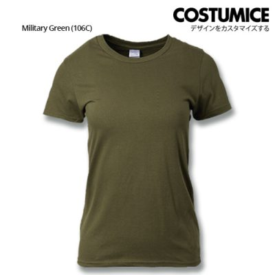 costumice design ladies premium cotton t-shirt-military-green
