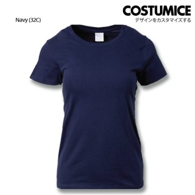 costumice design ladies premium cotton t-shirt-navy