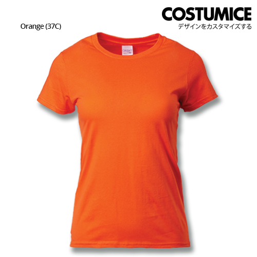 costumice design ladies premium cotton t-shirt-orange
