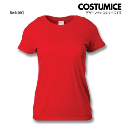 costumice design ladies premium cotton t-shirt-red