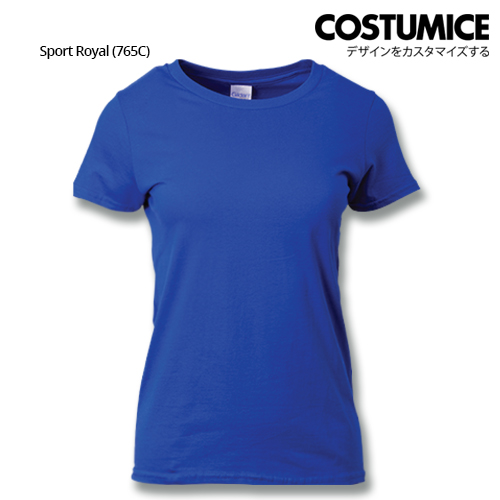 costumice design ladies premium cotton t-shirt-sport-Royal