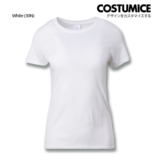 costumice design ladies premium cotton t-shirt-white