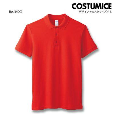 costumice design premium cotton double pique polo - Red