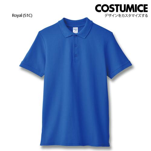 costumice design premium cotton double pique polo - Royal