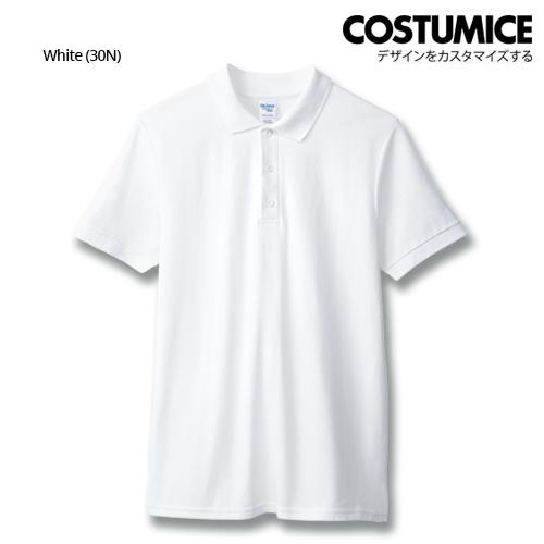 costumice design premium cotton double pique polo - White