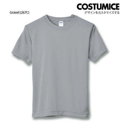 costumice design quick dry mesh t-shirt-gravel