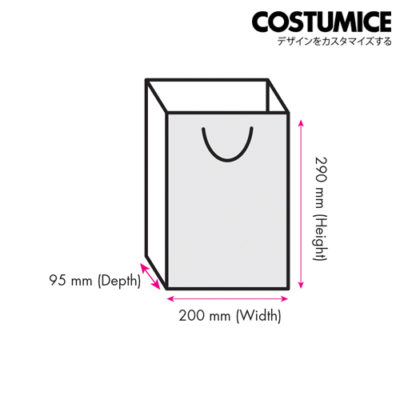 Costumice Design medium size paper bag size