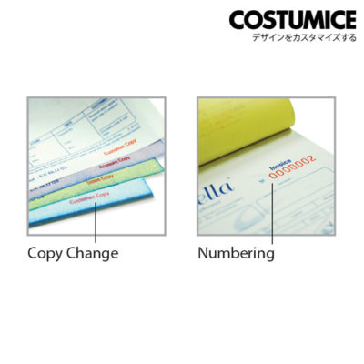 Costumice design Bill Book Numbering+copy change