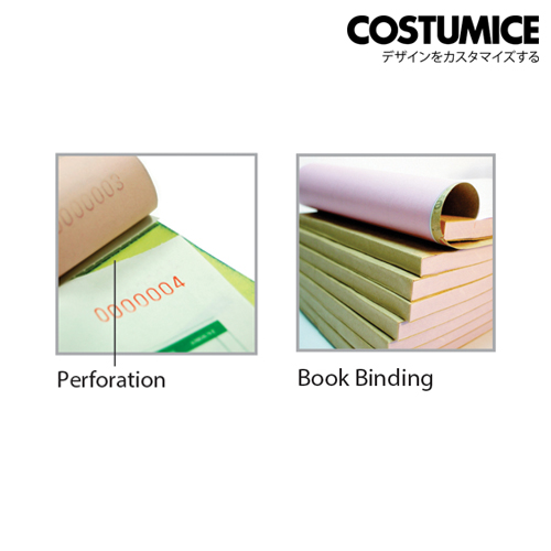 Costumice design Bill Book binding + perforation
