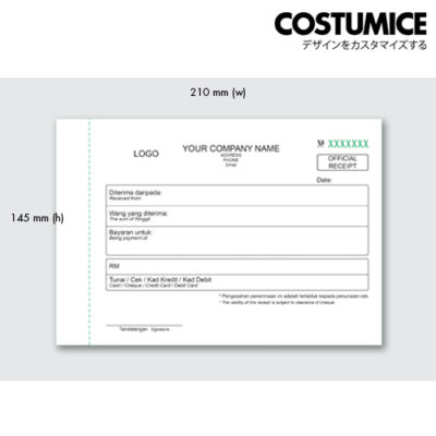 Costumice design medium size Multipurpose bill book 3