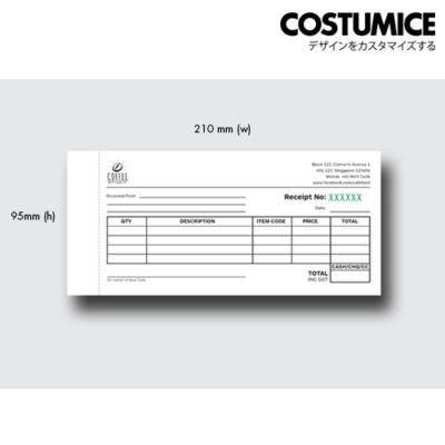 Costumice design receipt book 1