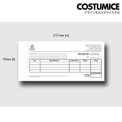 Costumice design receipt book 1