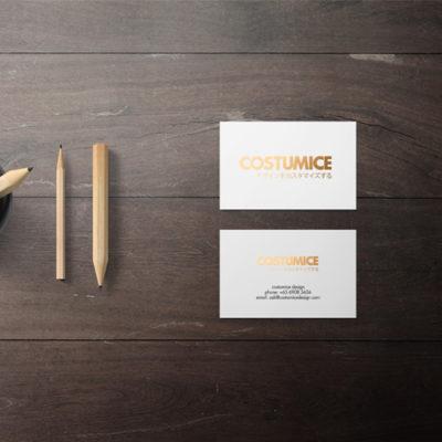 Costumice Design Hot Stamped Name Card 2