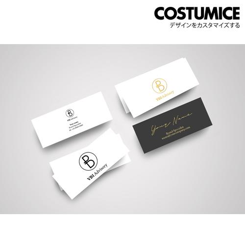 Costumice design slim hot stamped name card 2