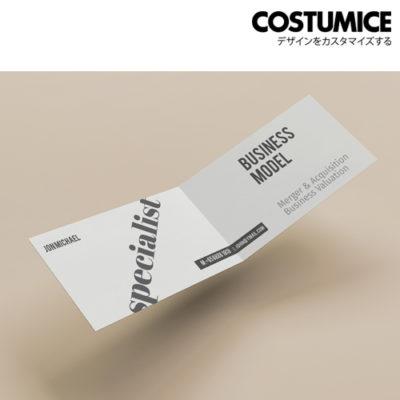 costumice design folded name card 2
