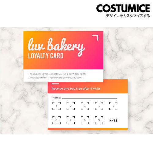 costumice design loyalty card 2