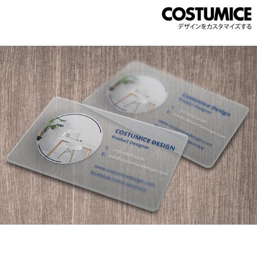 costumice design transparent PVC card 1