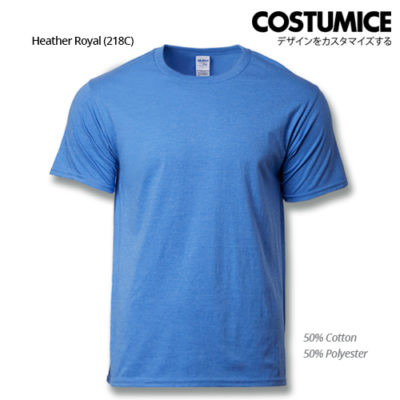 costumice design premium cotton t-shirt-heather royal