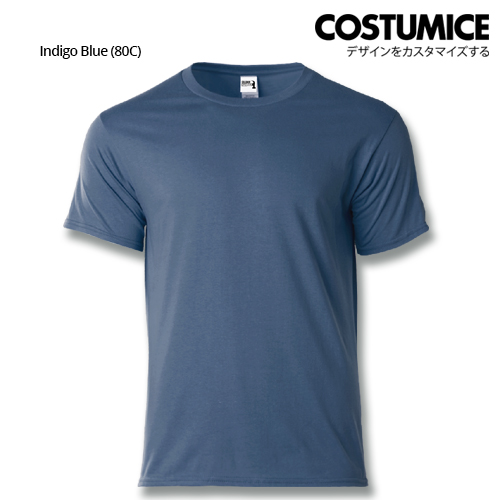costumice design heavy cotton t-shirt-Indigo blue