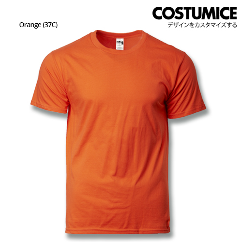 costumice design heavy cotton t-shirt-Orange