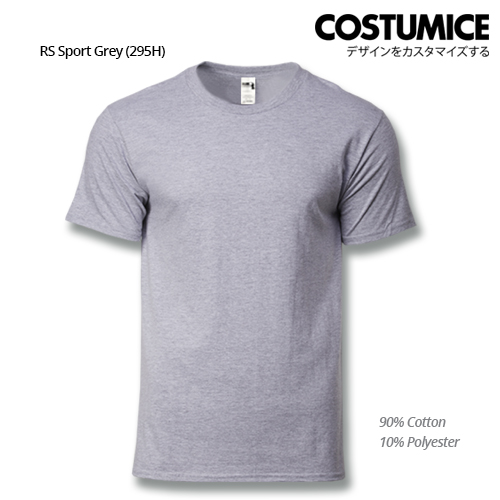 costumice design heavy cotton t-shirt-RS Sport Grey