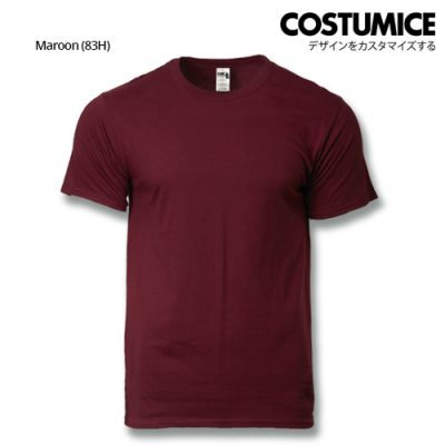 costumice design heavy cotton t-shirt-maroon