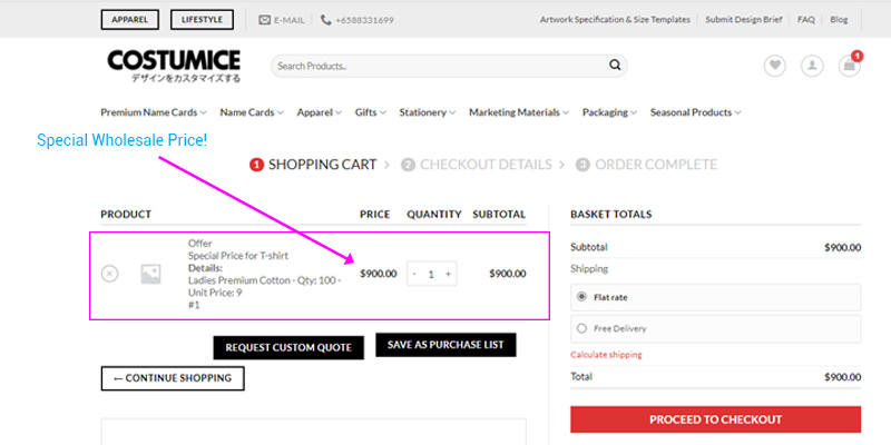 Costumice Design How To Get Special Wholesale Price Offer Accepting Special Offer