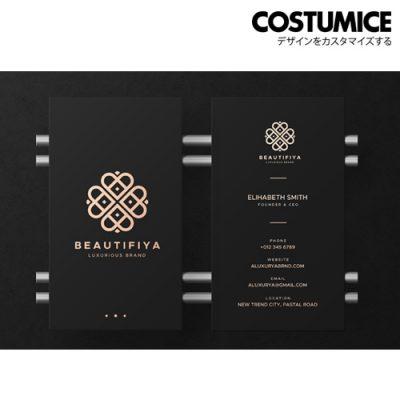costumcie design premium name card 800gsm super black card 5