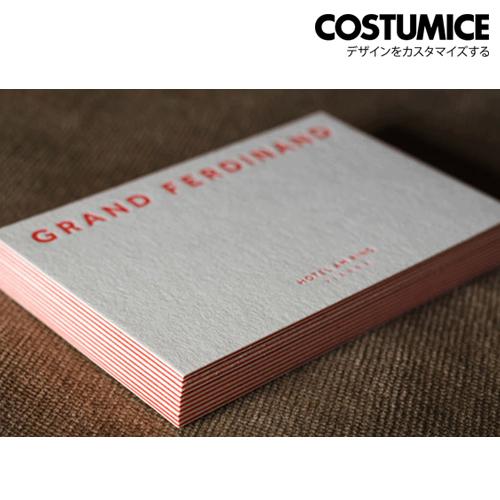 Costumice Design 550Gsm Premium White Painted Edge Business Card 3
