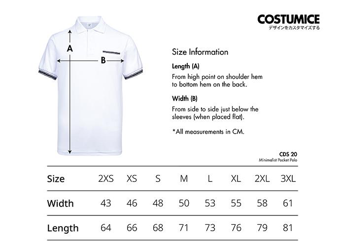 Costumice Design anti-odor minimalist pocket polo Size Information