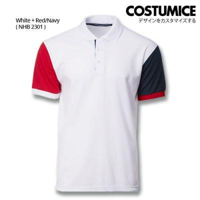 Costumice Design Dashing Polo - White+Red+Navy
